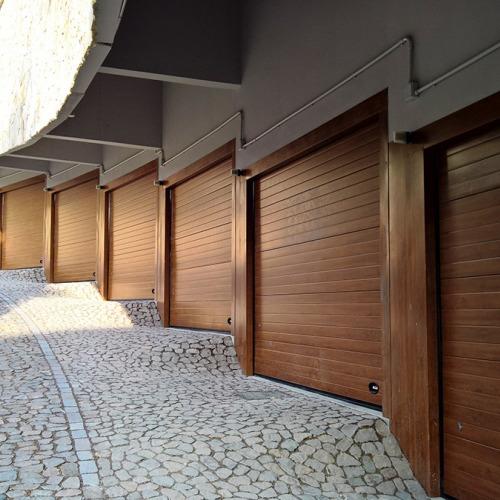 porte garage basculanti tinta legno